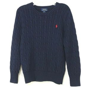 Polo Ralph Lauren Sweater Crew Neck Navy Blue Red